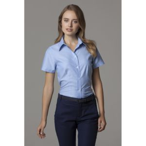 Women's workplace Oxford blouse short sleeved Thumbnail
