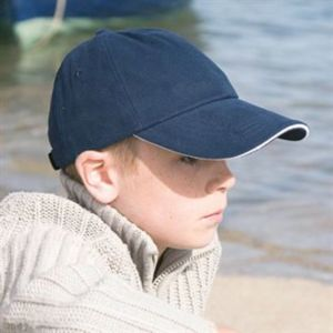 Junior low-profile heavy brushed cotton cap with sandwich peak Thumbnail
