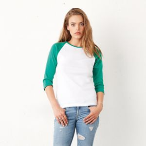 Women's ¾ Sleeve Baseball Shirt Thumbnail
