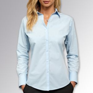 Women's Supreme Poplin Long Sleeve Shirt Thumbnail