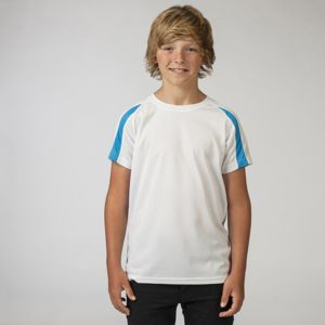 Childrens Contrast Cool Sports Shirt Thumbnail